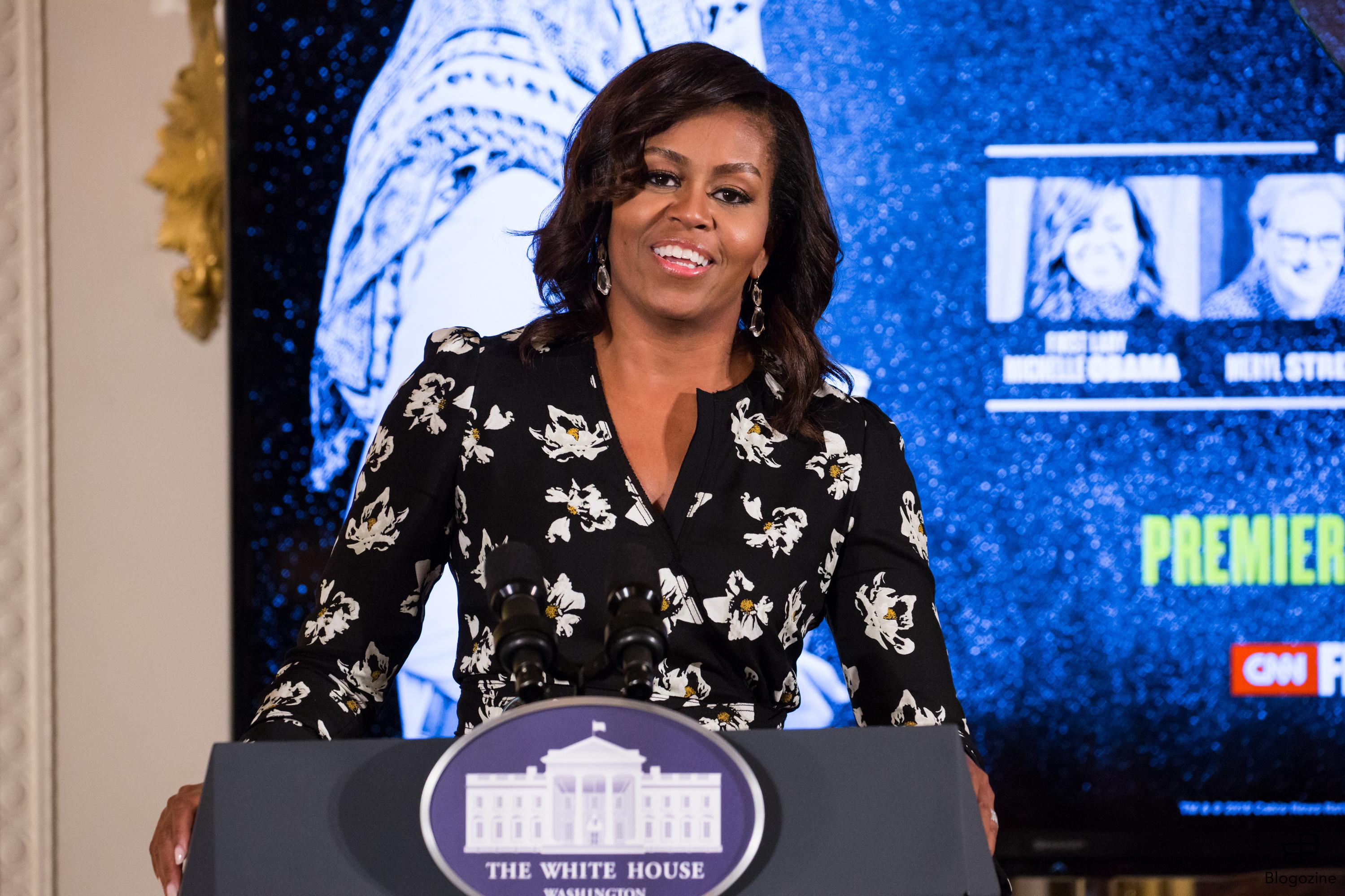 6353196 Celebration of International Day of the Girl and Let Girls Learn, First Lady Michelle Obama speaks before the screening of her new CNN Film, We Will Rise: Michelle Obama?s Mission to Educate Girls Around the World. East Room of the White House in Washington, DC, USA, on 11 October 2016. (Photo by Cheriss May/NurPhoto) *** Please Use Credit from Credit Field *** COPYRIGHT STELLA PICTURES