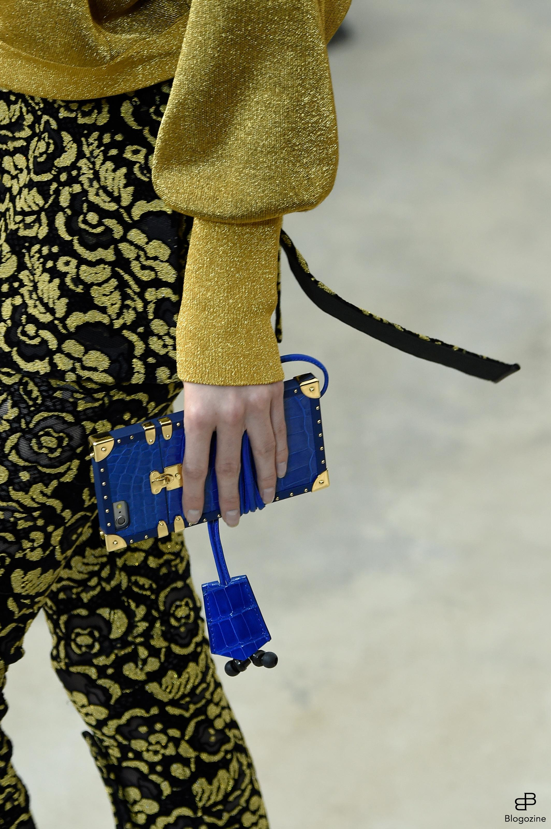 6301347 Details bags and shoes during the Louis Vuitton runway show as a part of Paris Fashion Week Ready to Wear Spring/Summer 2017 on October 4th , 2016 in Paris, France. Photo by Alain Gil Gonzalez/ABACAPRESS.COM COPYRIGHT STELLA PICTURES