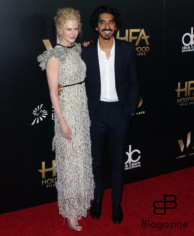 159086, Nicole Kidman, Dev Patel attends The 20th Annual Hollywood Film Awards in Los Angeles on Sunday, November 6th, 2016.Photograph: © Pacific Coast News. Los Angeles Office: +1 310.822.0419 sales@pacificcoastnews.com FEE MUST BE AGREED PRIOR TO USAGE