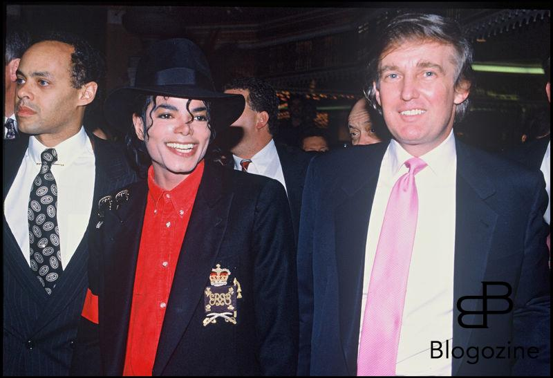 ARCHIVES - DONALD TRUMP ET MICHAEL JACKSON DANS L' HOTEL ET CASINO TAJ MAHAL BATIT PAR LA SOCIETE DE DONALD TRUMP A ATLANTIC CITY