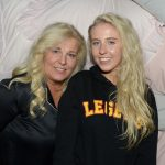2016-11-08 Pyjamasparty med Mia Parnevik på Restaurang Mother Pictured: Mia och Peg Parnevik Copyright Sigge Klemetz / Stella Pictures