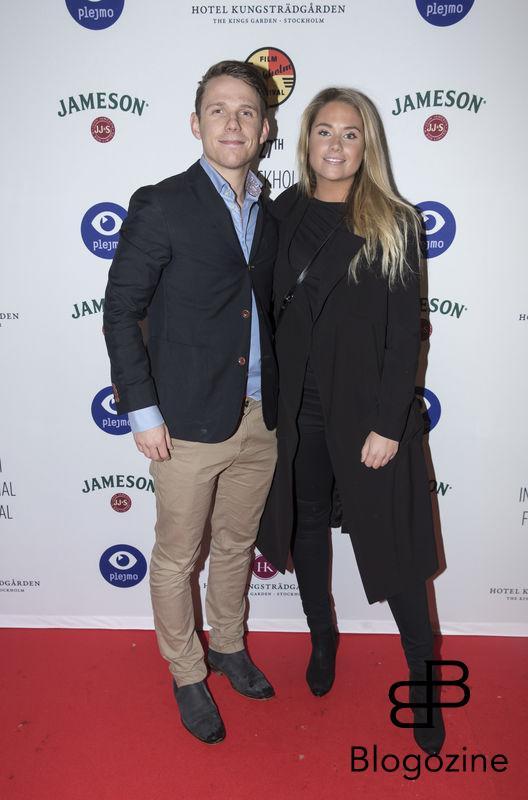 2016-11-09 Invigning Filmfestivalen 2016 på biograf Skandia. På Bilden: Kristian Täljeblad och Josefine Caarle COPYRIGHT STELLA PICTURES