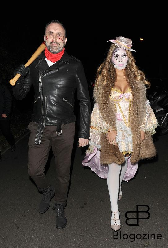 31 October 2016. Celebrities attend the annual Halloween party held at the home of Jonathan Ross. Here, Derren Brown Credit: Will/CK/GoffPhotos.com Ref: KGC-172/305