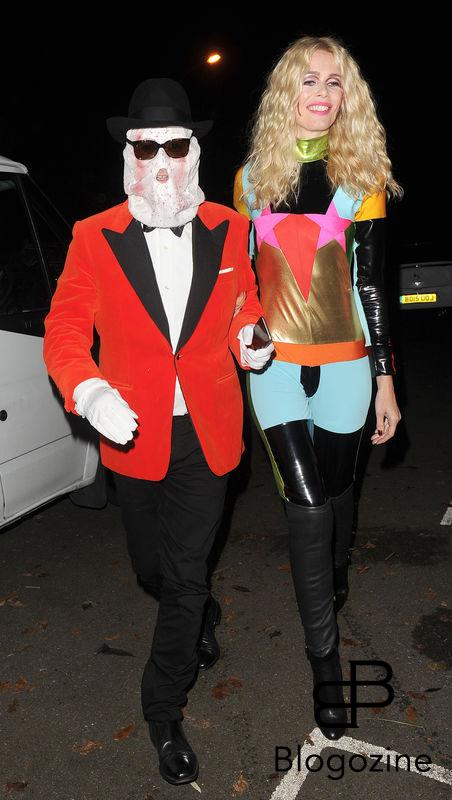 31 October 2016. Celebrities attend the annual Halloween party held at the home of Jonathan Ross. Here, Claudia Schiffer, Matthew Vaughn Credit: Will/CK/GoffPhotos.com Ref: KGC-172/305