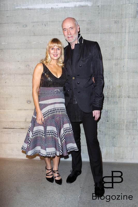 2016-11-03 Lars Wallins jubileumsutställningen Fashion Stories på Artipelag På Bilden: Lars Wallin, Riitta Östberg COPYRIGHT Jari Kantola/STELLA PICTURES
