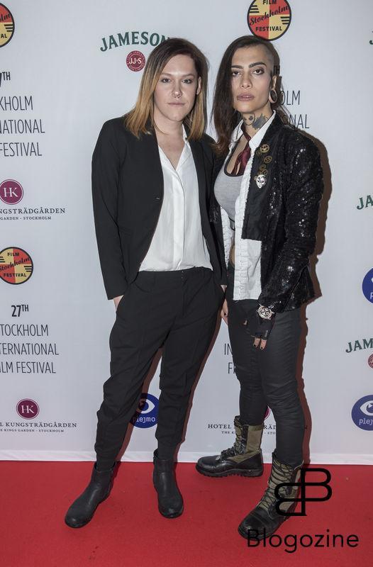2016-11-09 Invigning Filmfestivalen 2016 på biograf Skandia. På Bilden: Saga Becker och Heidi Ingenmansdotter COPYRIGHT STELLA PICTURES