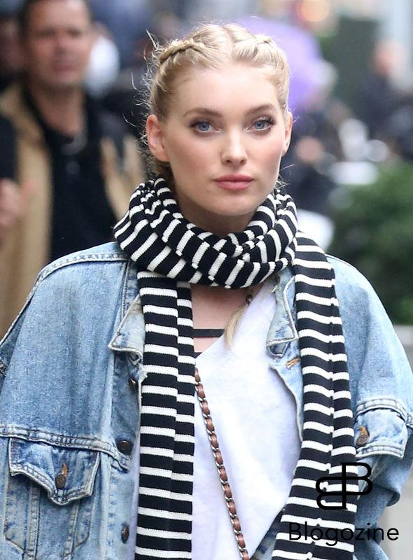 52226904 Victoria's Secret model Elsa Hosk is spotted out shopping in New York City, New York on November 9, 2016. Elsa stayed warm on a cold and rainy day with a denim jacket and a striped scarf. FameFlynet, Inc - Beverly Hills, CA, USA - +1 (310) 505-9876