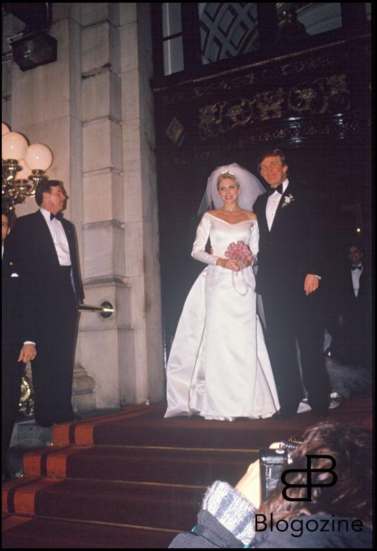 ARCHIVES - MARLA MAPLES ET DONALD TRUMP , LE JOUR DE LEUR MARIAGE