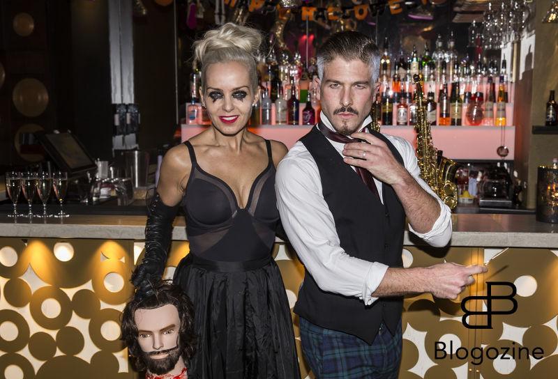 2016-11-02 Halloweenfest på Golden Hits. På Bilden: Tess Merkel och Kenny Solomons COPYRIGHT STELLA PICTURES