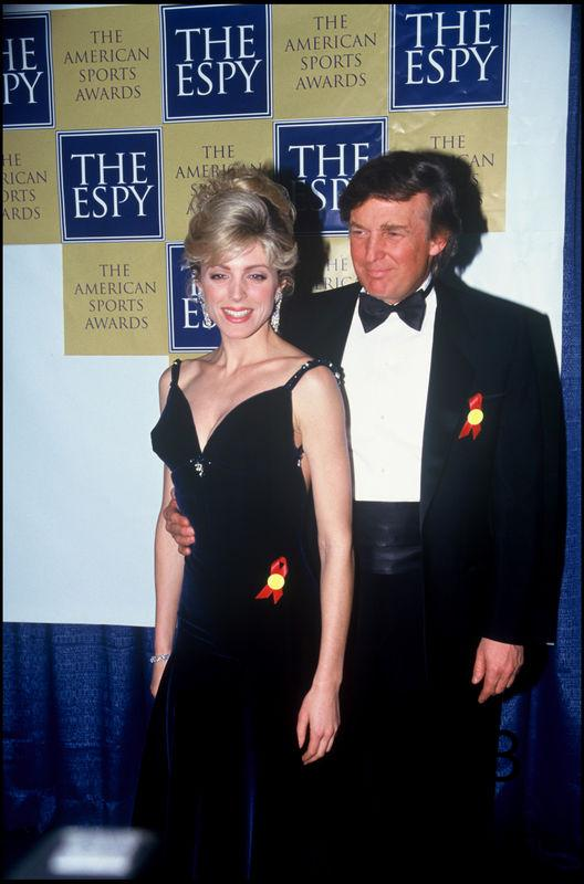 ARCHIVES - DONALD TRUMP ET MARLA MAPLES A LA SOIREE DES OSCARS DU SPORT EN 1993