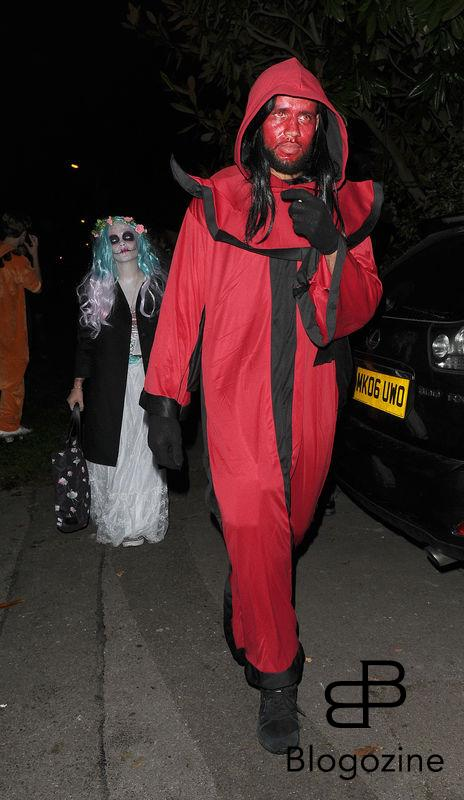 31 October 2016. Celebrities attend the annual Halloween party held at the home of Jonathan Ross. Pictured, Lily Allen Credit: Will/CK/GoffPhotos.com Ref: KGC-172/305