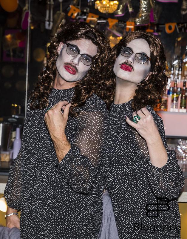 2016-11-02 Halloweenfest på Golden Hits. På Bilden: Andreas Lundstedt och Petra Mede COPYRIGHT STELLA PICTURES