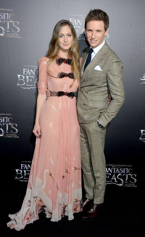 (L-R) Hannah Bagshawe and Eddie Redmayne attending the Fantastic Beasts And Where To Find Them world premiere at Alice Tully Hall, Lincoln Center in New York City, NY, USA, on November 10, 2016. Photo by Dennis Van Tine/ABACAPRESS.COM