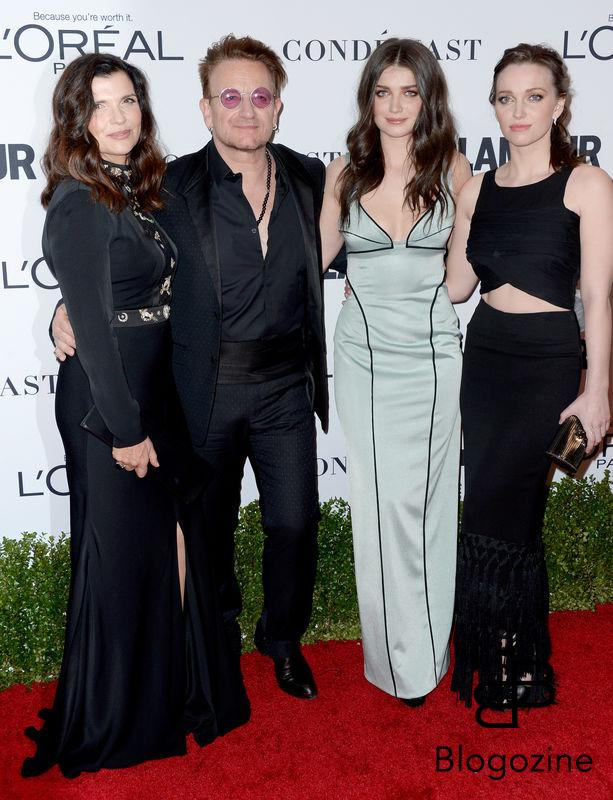 Alison Hewson, Bono, Eve Hewson and Jordan Hewson attend Glamour Women Of The Year 2016 at NeueHouse Hollywood on November 14, 2016 in Los Angeles, CA, USA. Photo by Lionel Hahn/ABACAPRESS.COM