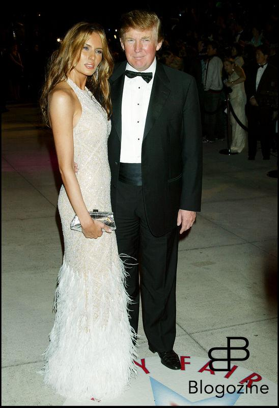 DONALD TRUMP ET SA FEMME ALANIA A LA SOIREE VANITY FAIR APRES LES OSCARS. VANITY FAIR AFTER OSCAR PARTY AT MORTON'S. LOS ANGELES, FEBRUARY 27, 2005