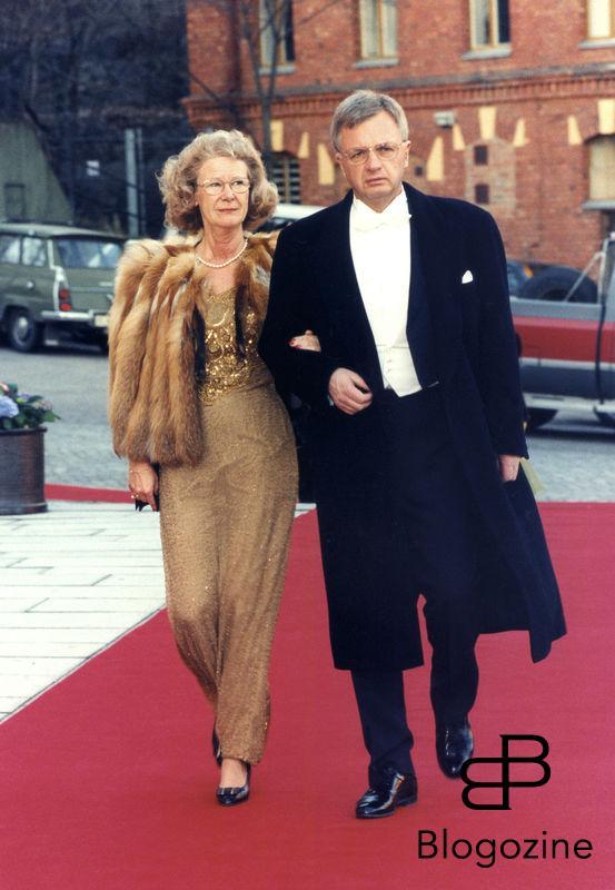 Gun Hellsvik politiker med man Per 1998 hon var justitieminister 1991-94 och moderat Bildno 62-009