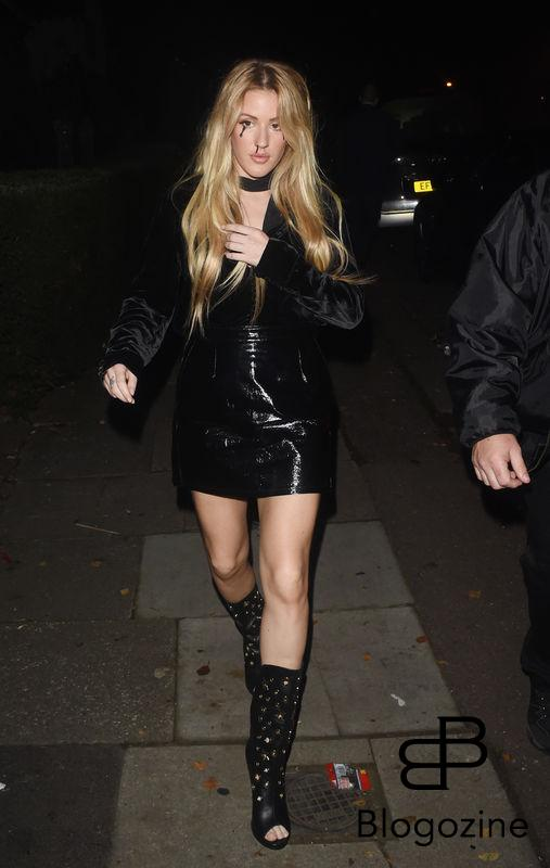 1 November 2016. Celebs Arriving at Jonathan Ross Halloween Party in London. Pictured, Ellie Goulding Credit: GoffPhotos.com Ref: KGC-172/305