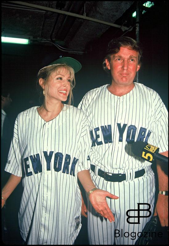 ARCHIVES - MARLA MAPLES ET DONALD TRUMP LORS D'UN MATCH DE SOFTBALL EN 1991