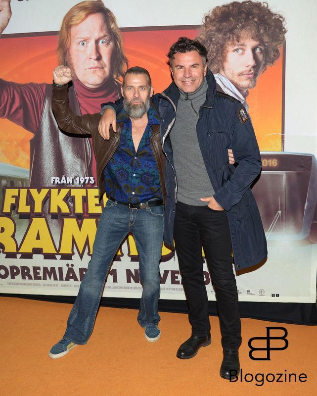 2016-11-08 Galapremiär Flykten till Framtiden på Rigoletto Pictured: Daniel Lindroth och Jowan Radomir Copyright Sigge Klemetz / Stella Pictures