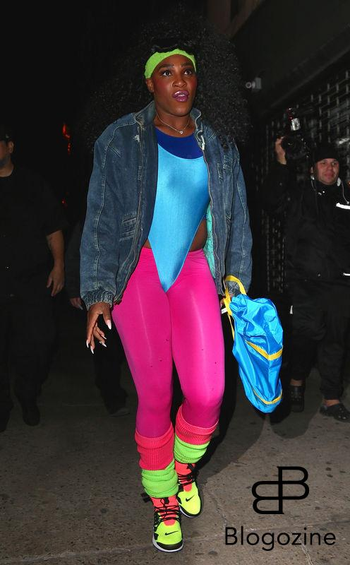 Serena Williams - Les célébrités arrivent à la soirée d'Halloween de Heidi Klum au Vandal club à New York, le 31 octobre 2016 People seen arriving at Heidi Klum's Halloween party at Vandal club in New York, Amanda Seyfried out and about in New York, on October 31st 2016.